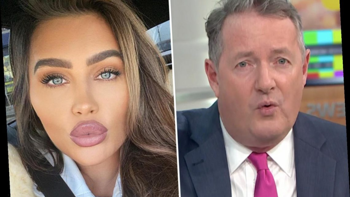 Piers Morgan lashes out at 'imbecile' Lauren Goodger for being a Covidiot anti-vaxxer despite 'shoving filler in lips'
