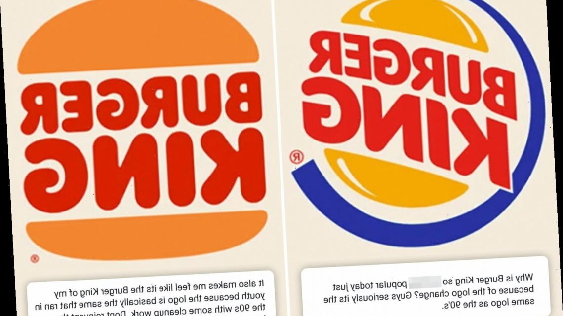 Burger King changes its logo for the first time in 20 years but some fans mock it for 'looking the same' as 90s version