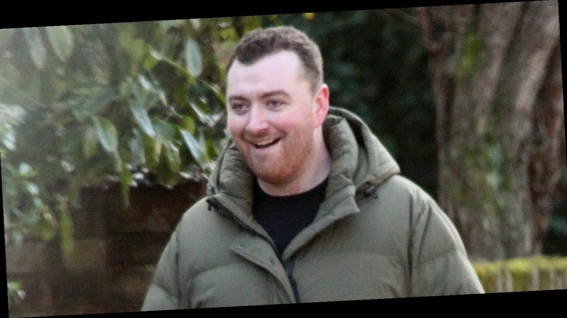 Sam Smith is All Smiles While Walking with a Friend in London