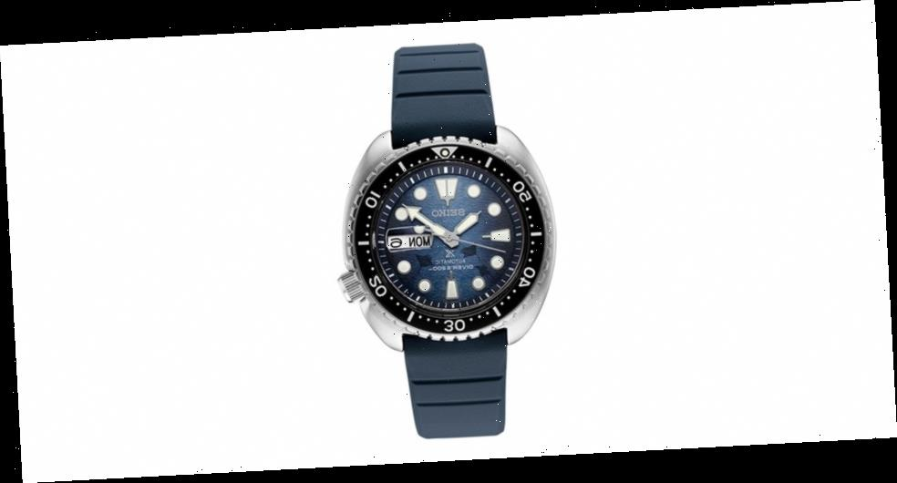 """Seiko Gives Its Prospex Turtle """"Save the Ocean"""" a Dark Manta Ray Special Edition"""