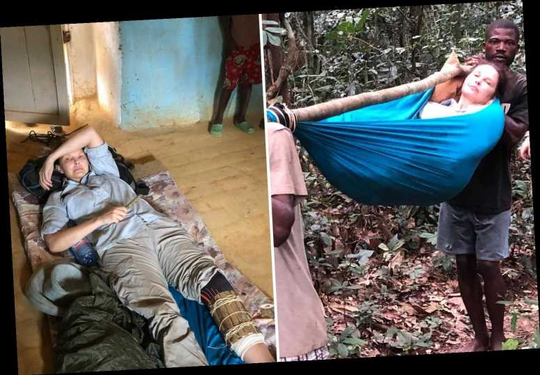 Ashley Judd shares photos of her rescue after almost 'losing her leg' and suffering 'internal bleeding' in the Congo