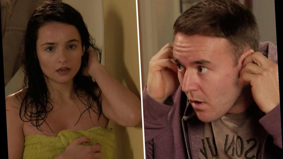 Coronation Street fans predict affair between Tyrone and Alina after she surprises him in a towel