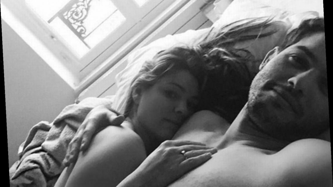 Kelly Brook shares naked bed pic with boyfriend Jeremy Parisi as they celebrate a 'belated' Valentine's Day