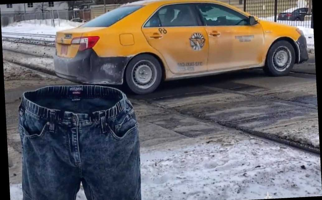 Man freezes his jeans to 'reserve' parking spots, inspires others