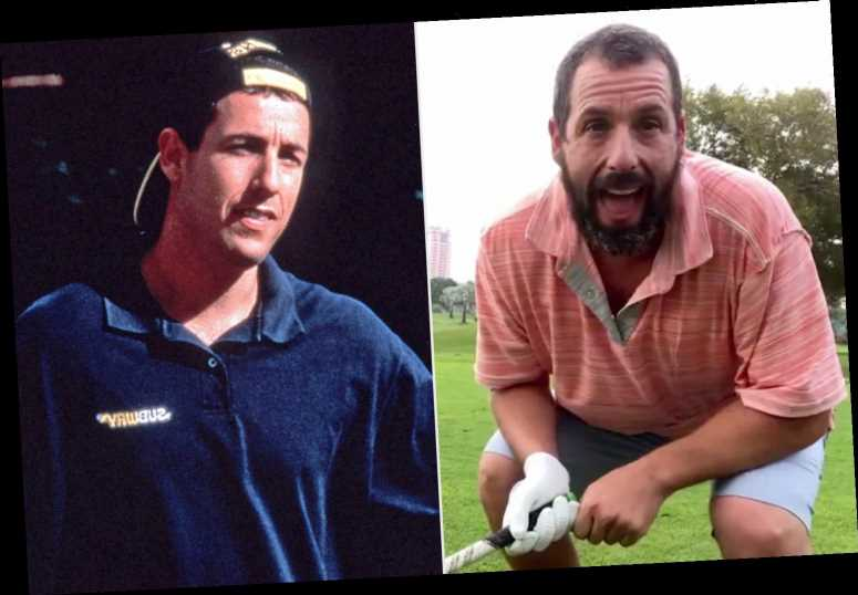 Adam Sandler Celebrates Happy Gilmore's 25th Anniversary with an Incredible Golf Shot
