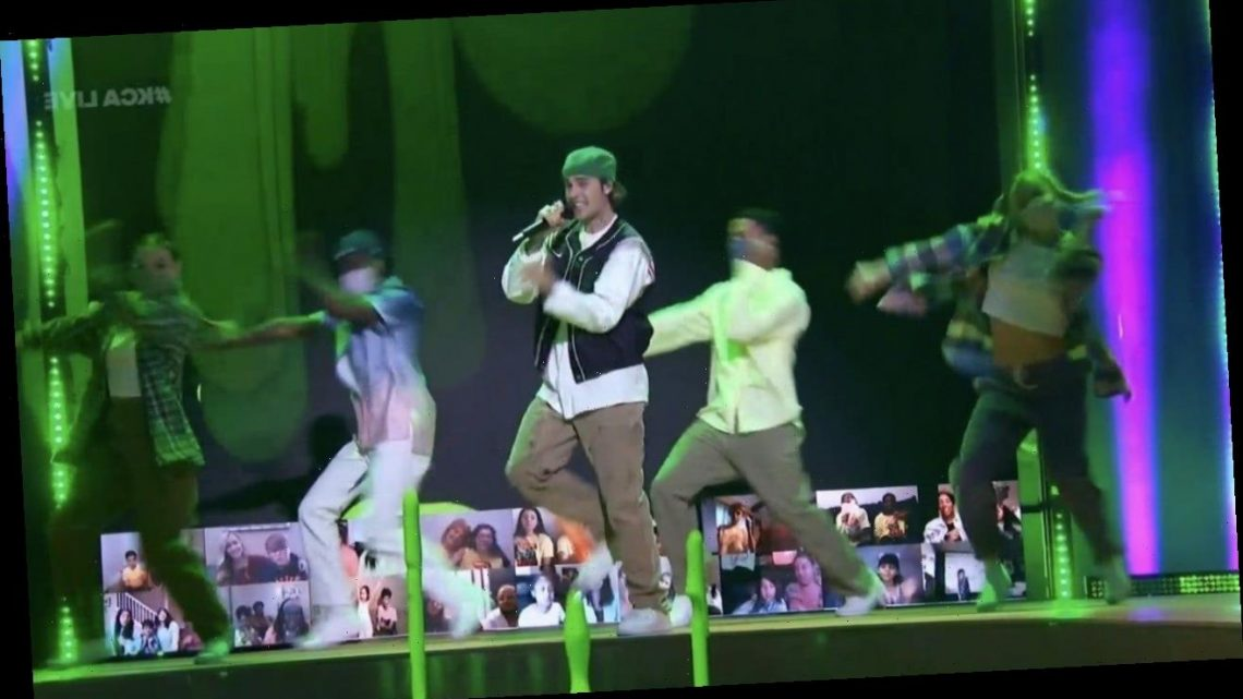 Justin Bieber Delivers Epic Performances at 2021 Kids' Choice Awards — Watch!