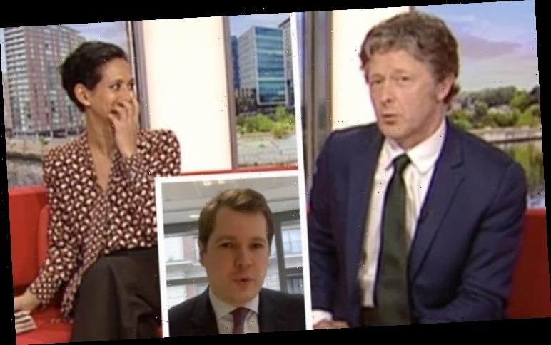 Charlie Stayt mocks Tory MP leaving Naga Munchetty sniggering 'About time someone said it!