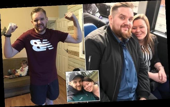 Father, 34, loses TEN stone in one year to become a 'better father'