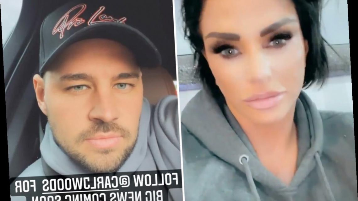 Katie Price fuels pregnancy rumours as she promises 'exciting news soon' with boyfriend Carl Woods