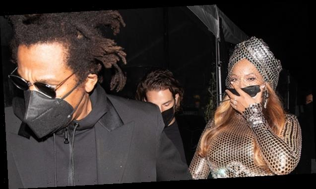 Beyoncé Kisses Jay-Z In Rare PDA Pic After Her Record-Breaking Grammys Night