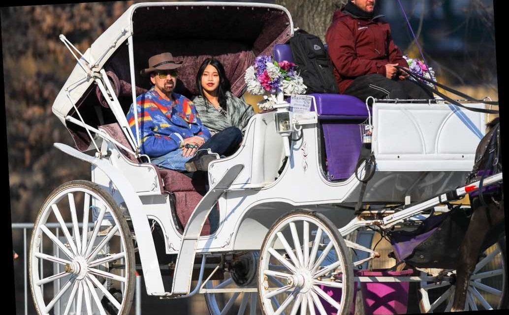 Nicolas Cage Enjoys Carriage Ride with New Wife Riko Shibata in N.Y.C. After Las Vegas Wedding