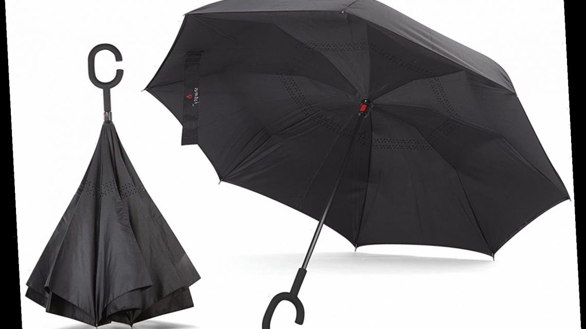 This Inside-Out Umbrella Will Keep You Dry During the Worst Weather — and It Has So Many Cool Features