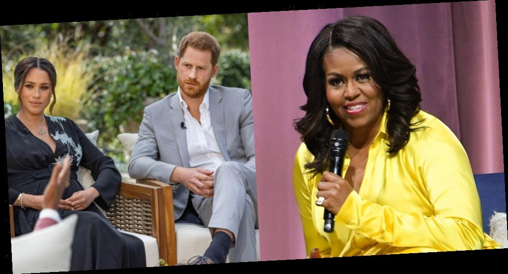 Michelle Obama Hopes For 'Forgiveness & Clarity' For Meghan, Harry & Royal Family Following Tell-All Interview