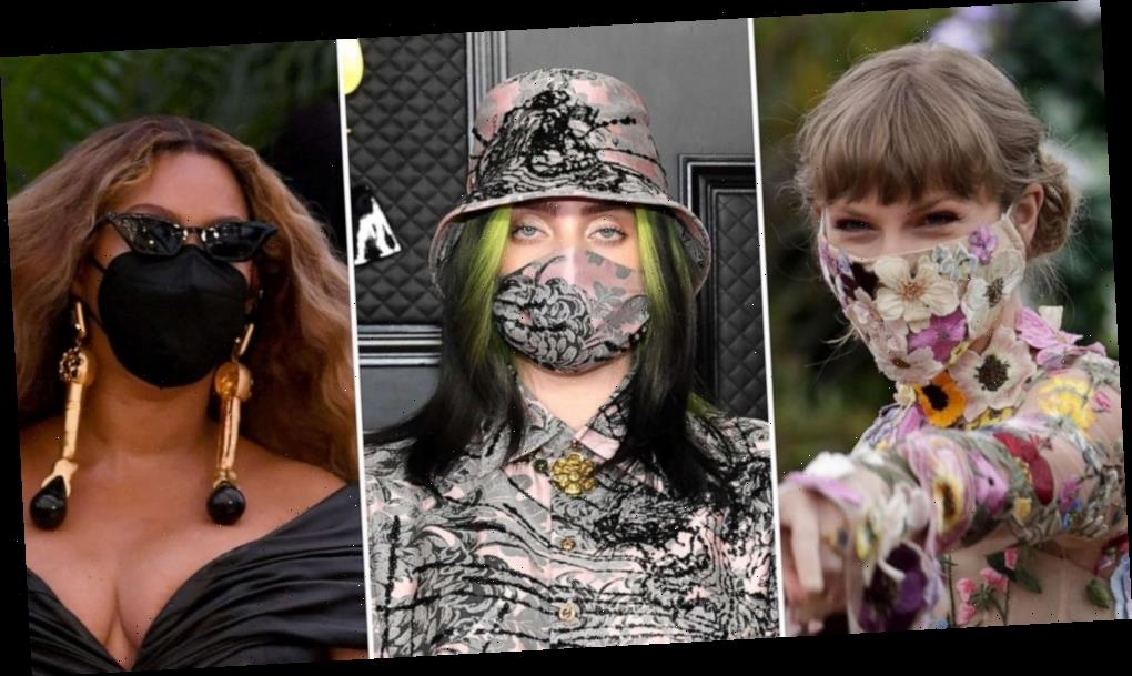 Grammy Awards 2021: Stars matched their masks to their looks