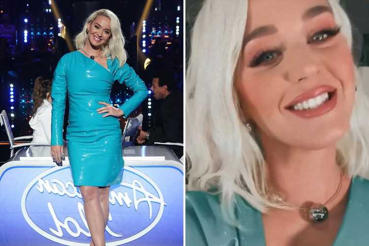American Idol's Katy Perry insists 'fart' noises are from her latex dress as she suffers wardrobe malfunction on live TV
