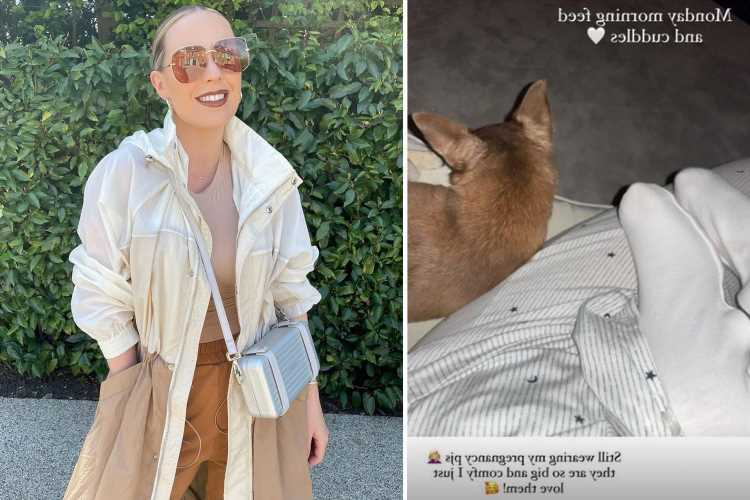 Kate Ferdinand reveals she's still 'wearing her pregnancy PJ's four months after son's birth