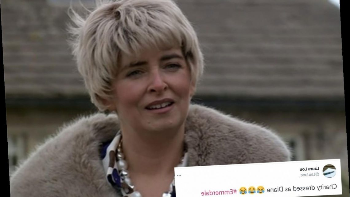Emmerdale viewers in hysterics as Charity Dingle disguises herself as Diane Sugden to trick her family