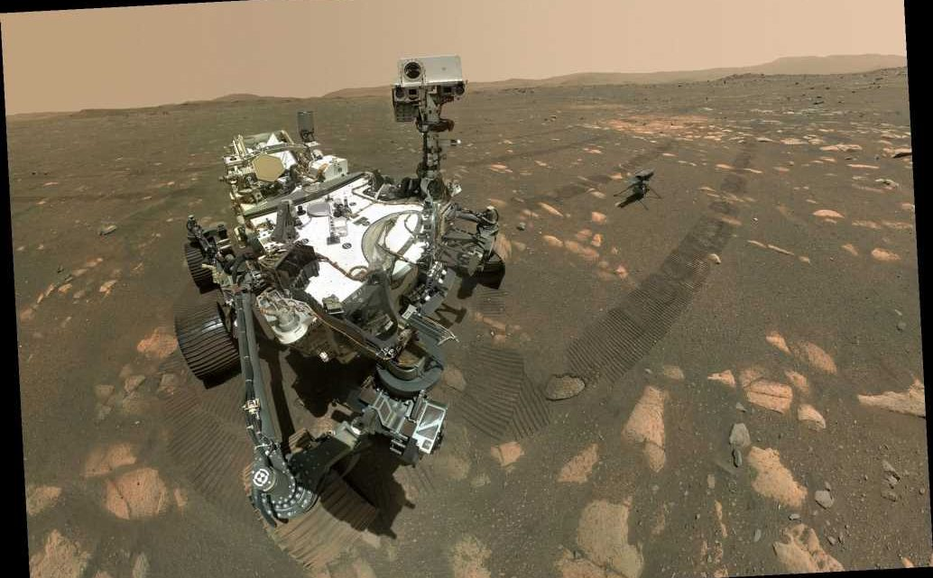 Mars Perseverance rover takes selfie with Ingenuity helicopter ahead of historic flight