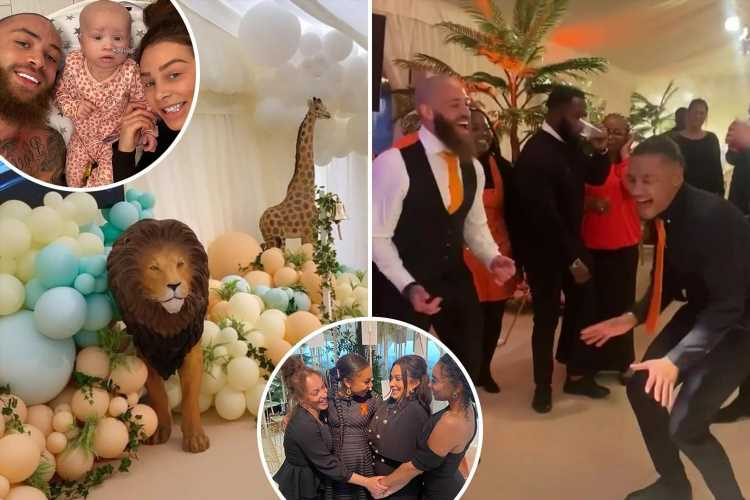 Ashley Cain and Safiyya throw epic party to celebrate Azaylia with break dancing, huge flower displays and fireworks