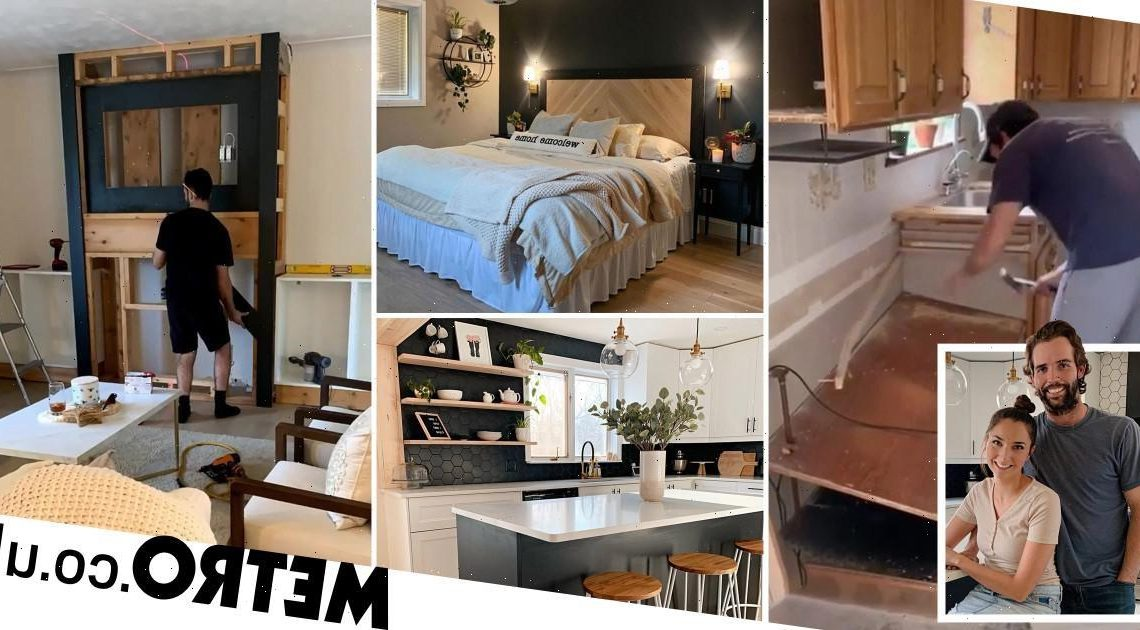 Couple give their home an incredible DIY makeover in just four months