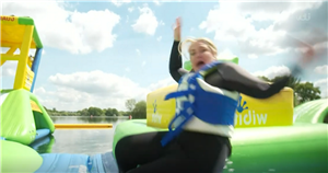 Josie Gibson falls into lake and has to be rescued live on This Morning