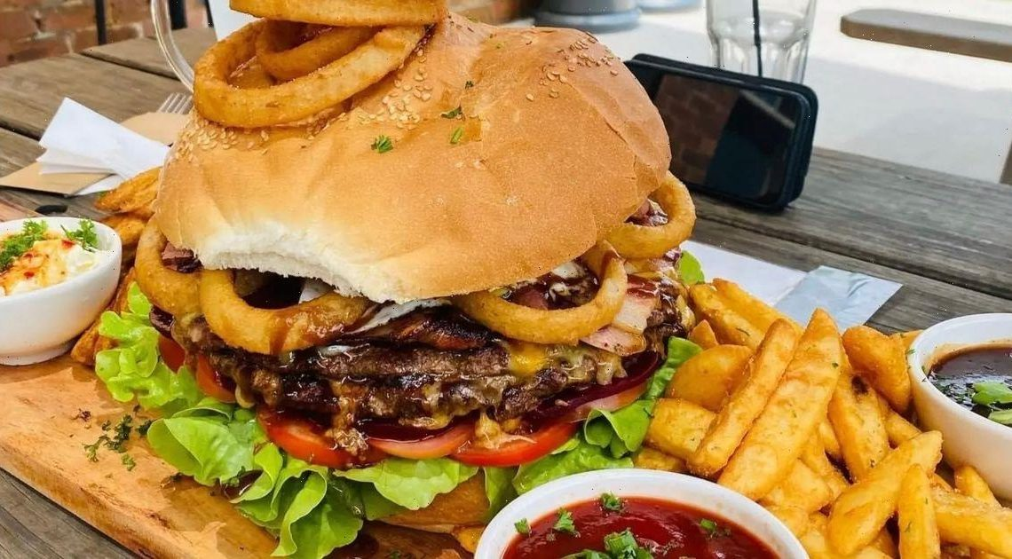 Man becomes first to complete pub's 5kg Burger Challenge – and even gets dessert