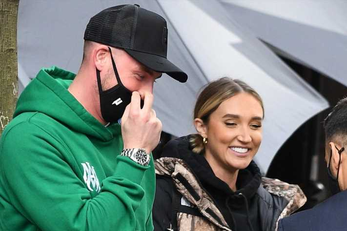 Megan McKenna enjoys cocktails and sushi with her ex Josh Riley after they rekindled their relationship