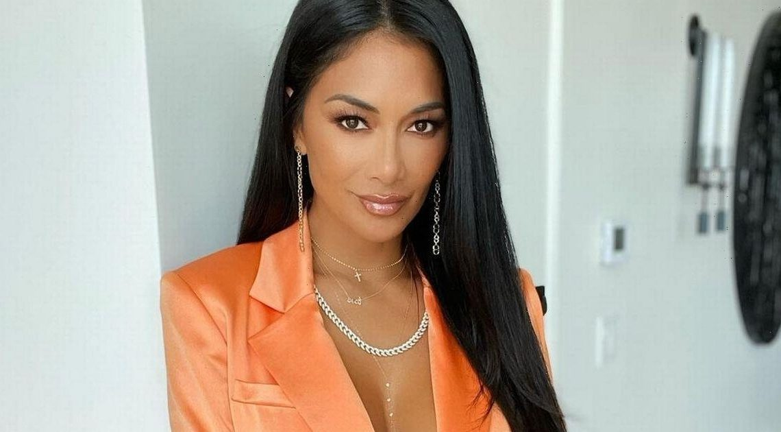 Nicole Scherzinger flaunts cleavage in plunging jacket with nothing underneath