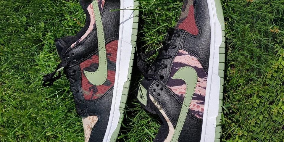 """Nike Dunk Low """"Crazy Camo"""" Is A Camouflage Hodgepodge"""