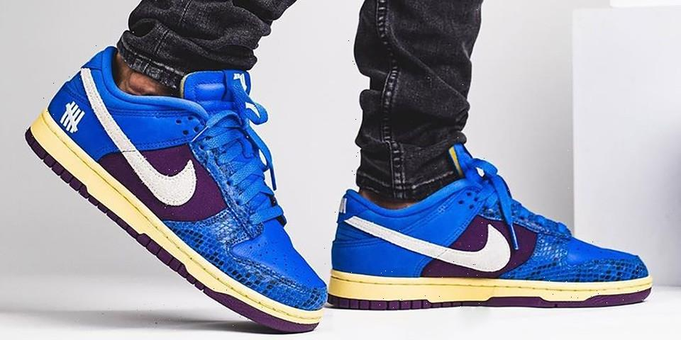 """On-Foot Look at the Snakeskin-Covered UNDEFEATED x Nike Dunk Low """"Dunk vs. AF-1"""""""