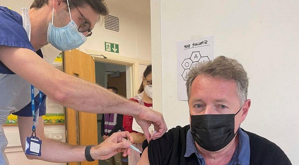 Piers Morgan receives second Covid jab days after lashing out at anti-vaxxers
