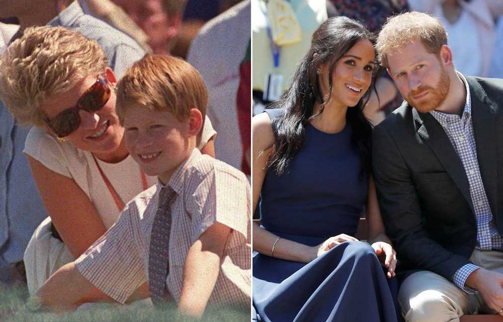 Prince Harry is 'constantly' anxious that he'll lose Meghan like Diana