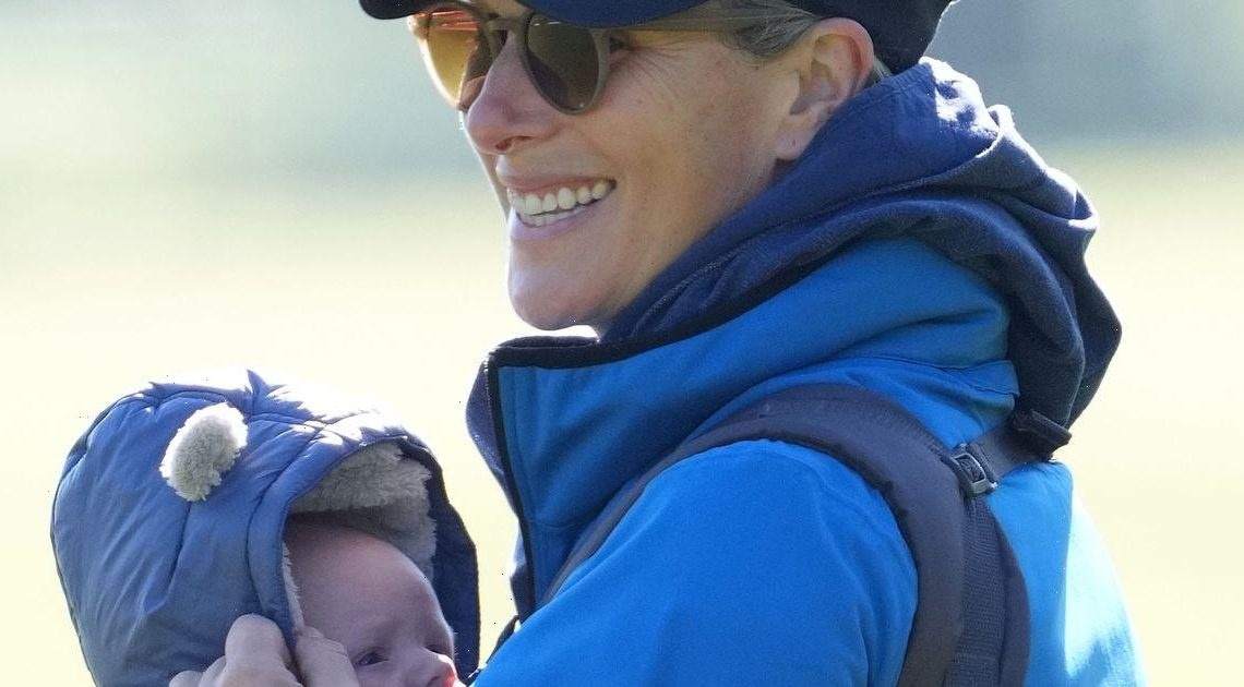 Zara Tindall shares first glimpse of newborn son Lucas' face on day out