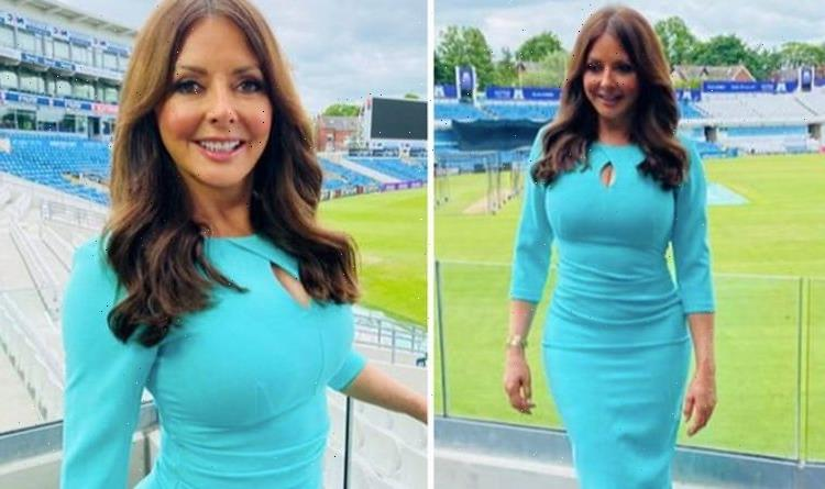 Carol Vorderman teases bust in jaw-dropping look as she talks kissing policeman for bet