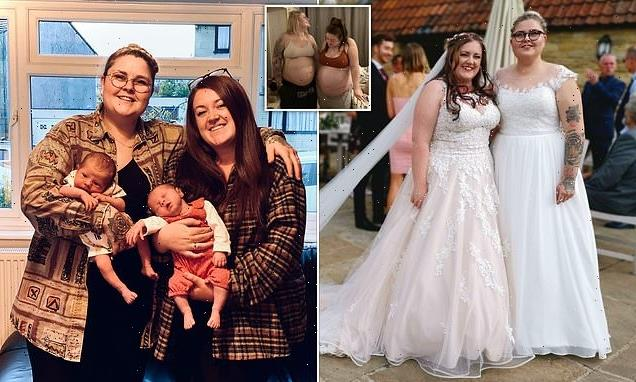 Couple who both fell pregnant using donor give birth 13 days apart