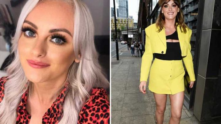 Hollyoaks' Katie McGlynn rocks a thigh-skimming skirt for night out in Manchester