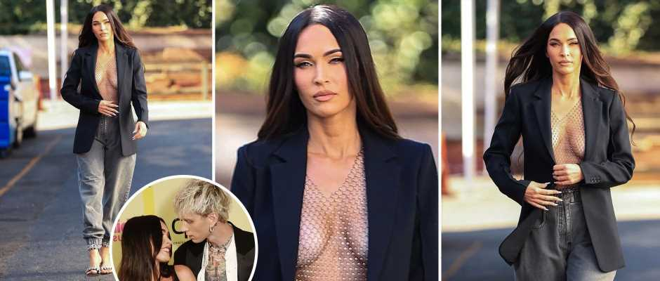 Megan Fox goes totally topless in stunning new photoshoot after packing on the PDA with boyfriend Machine Gun Kelly