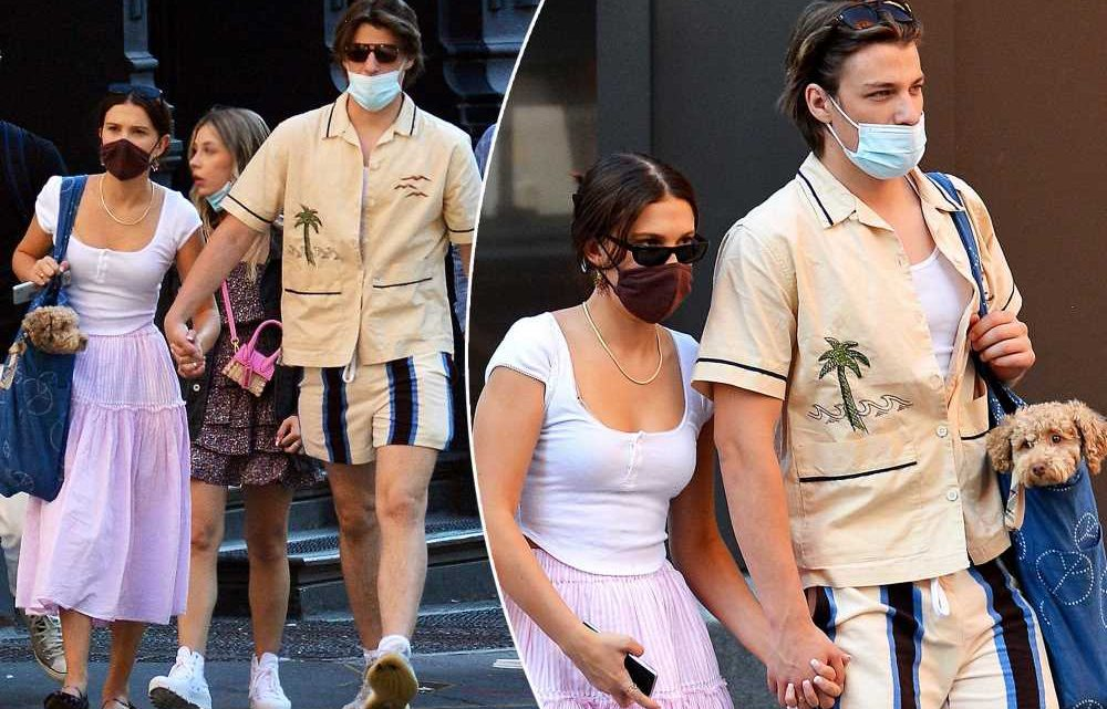 Millie Bobby Brown and Jake Bongiovi hold hands in first couple pics