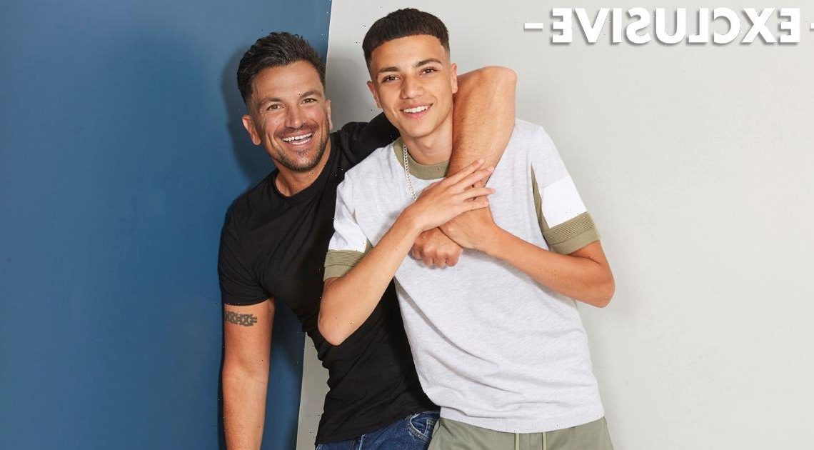 Peter Andre 'couldn't be prouder' of son Junior as duo pose for joint OK! shoot