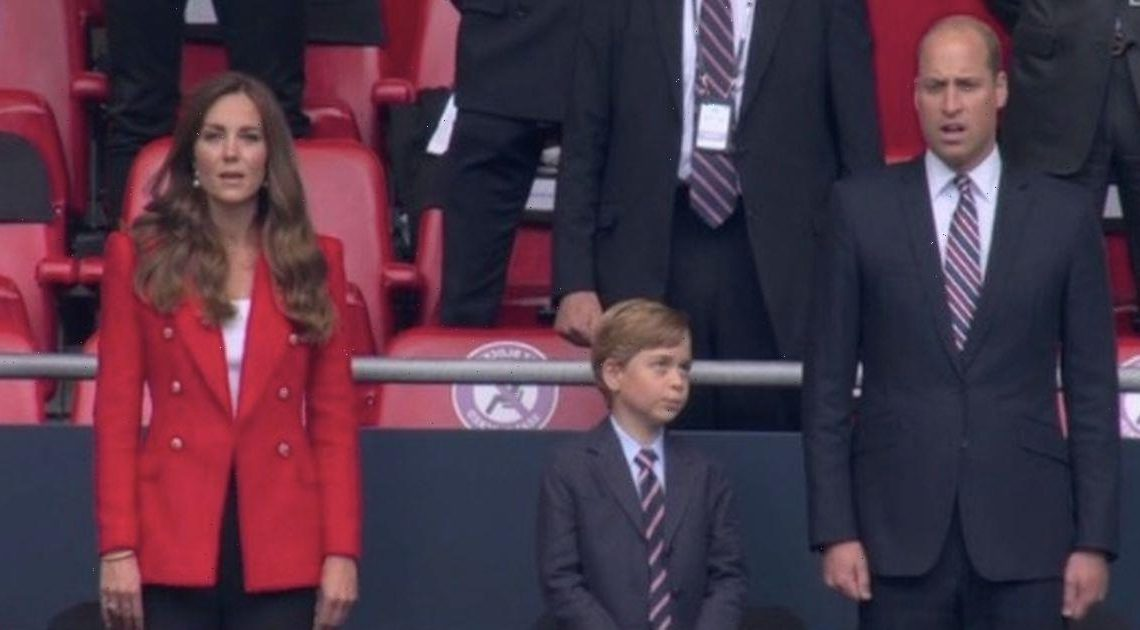 Prince William and Kate priming George for Royal life at football match