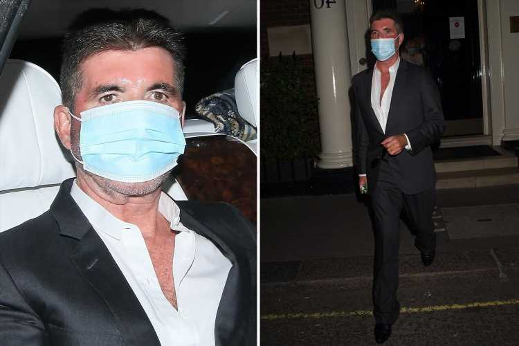 Simon Cowell enjoys night out as he leaves posh member's club in London
