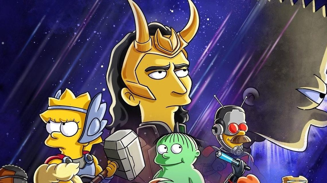 'The Simpsons' Will Cross Over With the MCU in New Disney+ Short Starring Tom Hiddleston as Loki