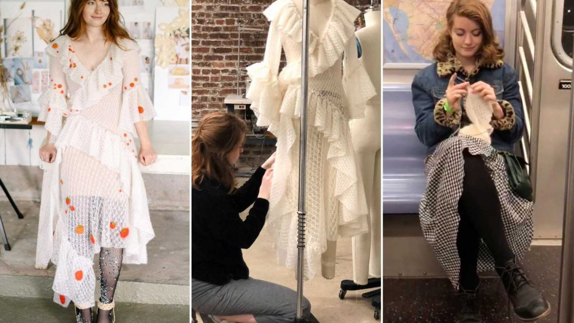 TikTok bride knits her own wedding dress in nine months while on the subway