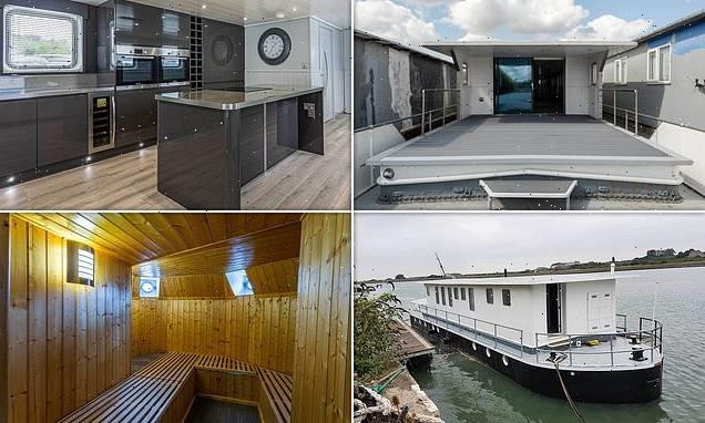 Two-bedroom 86 ft-long houseboat with SAUNA on sale for $779,000