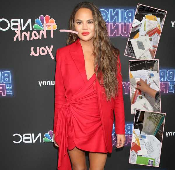 Chrissy Teigen Moved To Tears By Fan Letters Showing Support After Pregnancy Loss: 'I Love You Guys'