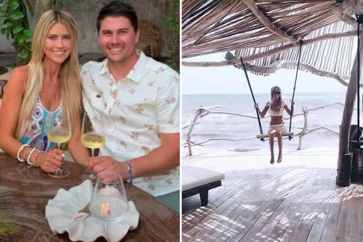 Christina Haack takes romantic beach getaway with hunky new boyfriend Joshua Hall after split from husband Ant Anstead