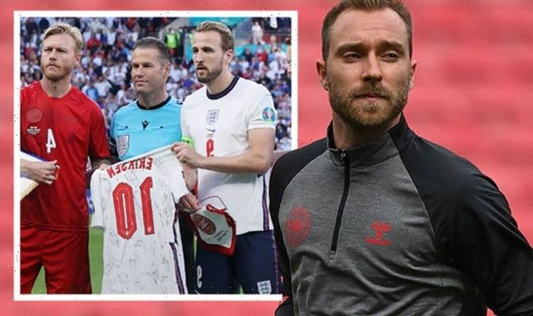 Euro 2020: Fans emotional as England and Denmark pay tribute to Eriksen during recovery