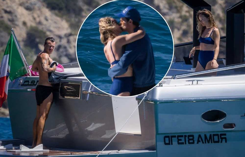 Harry Styles and Olivia Wilde cant keep their hands off each other in Italy