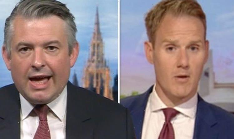 I've just told you!' Dan Walker blasted by Ashworth in row over Labours lockdown stance