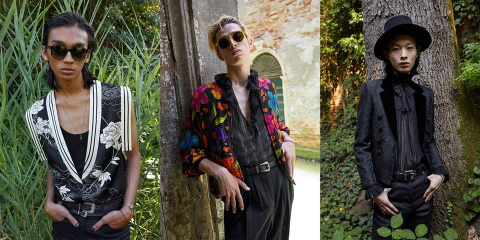 Saint Laurent Introduces SS22 Men's Collection With Installation by Doug Aitken